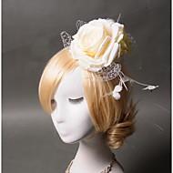 Damen Kopfschmuck Hochzeit / Besondere Anlässe / Freizeit Blumen Feder / Stoff / Netz Hochzeit / Besondere Anlässe / Freizeit 1 Stück