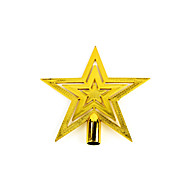 "5PCS/SET 20CM/8"" Christmas Tree Ornaments Outdoor Decorations Golden Star New Year Decoration Party Supplies Pendant"