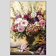 Håndmalte Blomstret/BotaniskModerne / Europeisk Stil Et Panel Lerret Hang malte oljemaleri For Hjem Dekor
