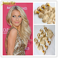 3 Pcs/Lot Hot Selling Blonde hair #613 Body Wave 3 Bundles With Closure,Blonde Human Hair Weave Weft Hair Extensions