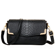 Women Patent Leather Baguette Shoulder Bag - White / Blue / Gold / Black / Burgundy