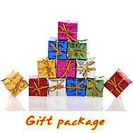 12PC / sada barevné vánoční strom dárkové krabice dekorace svatba dovolená zásobování strana visí vánoční ornament smíšené barvy