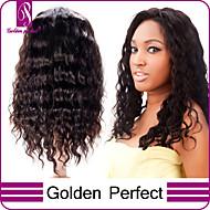 brasileiras do cabelo virgem perucas cheias do laço da onda profunda perucas cheias do laço do cabelo virgem com cabelo do bebê para as