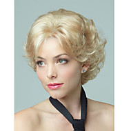 Short Cully Hair European Weave Golden Blonde Hair Wig Top Quality