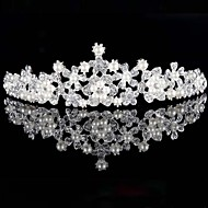 유럽과 미국 웨딩 액세서리 핫 스타일 신부 진주 다이아몬드 왕관 합금
