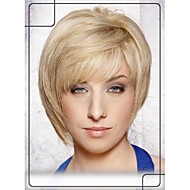"Vogue Short Straight Virgin Remy Human Hair 1""Monofilament Top Capless Wig For Women"
