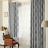 Dois Painéis Tratamento janela Rústico Moderno Neoclassicismo Mediterrêneo Quarto Poliéster Material Cortinas Blackout Decoração para casa