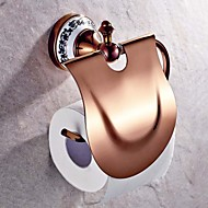 Toilet Paper Holder Gold Wall Mounted 17.5*15cm(6.88*5.9inch) Brass Neoclassical