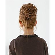 2015 nova moda sintético cabelo bun noiva elástico chignon cabelo rolo de Hepburn apliques de cabelo bun sintético