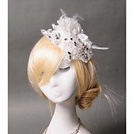 Women's Feather / Rhinestone / Fabric Headpiece - Wedding / Special Occasion / Casual Fascinators 1 Piece