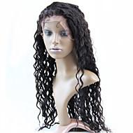 Top Quality Brazilian Virgin Human Hair Lace Front Half Wig 130% #1 #1B #2 #4 Deep Wave Glueless Wigs