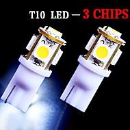 2 x t10 blanco brillante LED de la matrícula bombillas -194 2.825 cuña 168 158 5-SMD