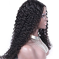 """Unprocessed 10""""-24"""" Virgin Brazilian Hair Natural Color Kinky Curly 130% Density Lace Front Wig Kinky Curl"""