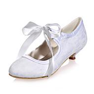 Dámské - Svatební obuv - Kulatá špička - Lodičky - Svatba / Party - Černá / Modrá / Růžová / Slonovinová / Bílá