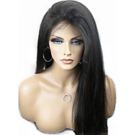 "10""-24"" Brazilian Virgin Hair Natural Black Silky Straight Full Lace Wig No Shedding Tangle Free Human Hair Wigs"