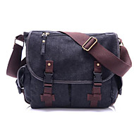Unisex Canvas Casual Satchel Beige / Brown / Black