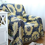 Cotton Sunflower Thickening Line Decorative Carpet Sofa Towel Blanket