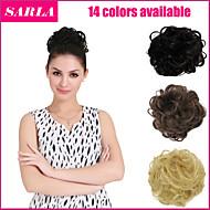 14 colores pony extensión del pelo de la cola de la novia moño postizo falsa banda para el cabello pelo ondulado q7