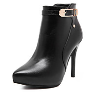 Women's Shoes Stiletto Heel Pointed Toe / Closed Toe Boots Office & Career / Party & Evening / Dress / Casual Black