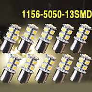 10X Warm White Car RV 1156 BA15S 13-SMD 5050 LED Backup Reverse Light bulbs 1141