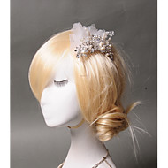 Women's Rhinestone / Tulle / Imitation Pearl Headpiece-Wedding / Special Occasion / Casual Hair Combs 1 Piece Round