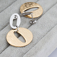 Women's Fashion Elegant More Colors Set of Two Stainless Steel  Earring