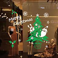okenní samolepky Samolepky na okno styl barva Vánoční strom sníh okenní sklo dekorace pvc samolepky