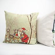 Coton / Lin / Coton/Lin Housse de coussin / Nouveaux Oreillers / Taie d'oreiller ,Floral / Nouveauté / Texturé / Géométrique / Vie