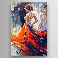Pintados à mão Famoso / Retratos AbstratosModern 1 Painel Tela Hang-painted pintura a óleo For Decoração para casa