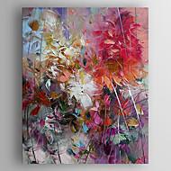 Pintados à mão Floral/Botânico Vertical,Moderno 1 Painel Pintura a Óleo For Decoração para casa
