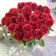 Poliéster / Gel Silica Rosas Flores artificiais