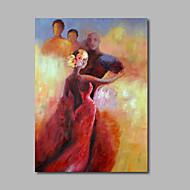 tuval duvar sanatı empresyonist dansçı figürü üzerinde el boyaması yağlıboya asmak için hazır tek paneli