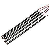 5×30センチメートル防水SMD 3528赤15は、柔軟な車のストリップ電球直流12Vを導きました