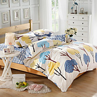 Mingjie® Blue and Yellow Shrubs Queen and Twin Size Sanding Bedding Sets 4pcs for Boys and Girls Bed Linen China