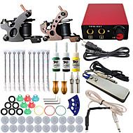 itatoo® profesionales completos de mini kit tatuaje 2 armas conjuntos de máquinas de tinta del tatuaje agujas fuente de alimentación del