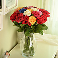 Moisturized Rose in Silk Cloth Artificial Flower for Home Decoration(8 Piece)