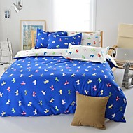 Mingjie® Blue Cartoon Horse Queen and Twin Size Sanding Bedding Sets 4pcs for Boys and Girls Bed Linen China