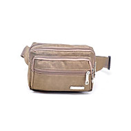 Men Canvas Sports / Casual Waist Bag Purple / Blue / Green / Brown / Black