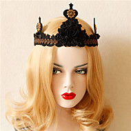 New Fashion Black Rose Crown Party Hair Hoop