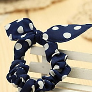 Rabbit Ears Small Dots Elastic Hair Bands Hair Ties