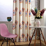 dois painéis cortinas de poupança de energia de algodão bordado moderno colorido círculo cortinas