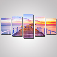 Tempo libero / Paesaggio / Fotografia / Romantico Print Canvas Cinque Pannelli Pronto da appendere , Orizzontale