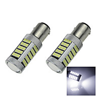 2X White 1156 G18 Ba15s 63 SMD 2835 LED Turn Signal Rear Light Bulb Lamp D091 DC12-24V
