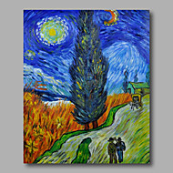 Ručně malované Abstraktní / Abstraktní krajinkaModerní Jeden panel Plátno Hang-malované olejomalba For Home dekorace