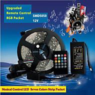 ZDM™ 5M 150PCS of High Brightness SMD5050 LED 20 Keys Seven Sound Colors LED Remote Control RGB Strips IP44
