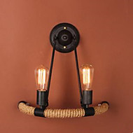 Contracted Balcony Stair Lamp Semicircle Hemp Rope Wall Lamp