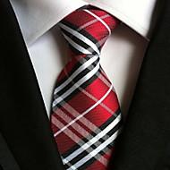 Men Wedding Cocktail Necktie At Work Wine White Cross Tie