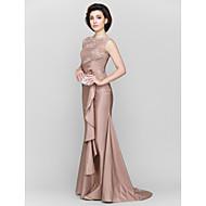 Trumpet/Mermaid Mother of the Bride Dress - Sweep/Brush Train Sleeveless Lace / Taffeta