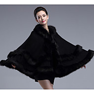 Wedding  Wraps / Fur Coats / Hoods & Ponchos Capes Sleeveless Faux Fur / Imitation Cashmere Black / Burgundy / Royal Blue / Ink Blue
