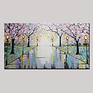 Kézzel festett Absztrakt / LandscapeModern Egy elem Vászon Hang festett olajfestmény For lakberendezési